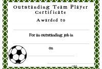 Soccer Certificate Templates  Sansurabionetassociats for Football Certificate Template