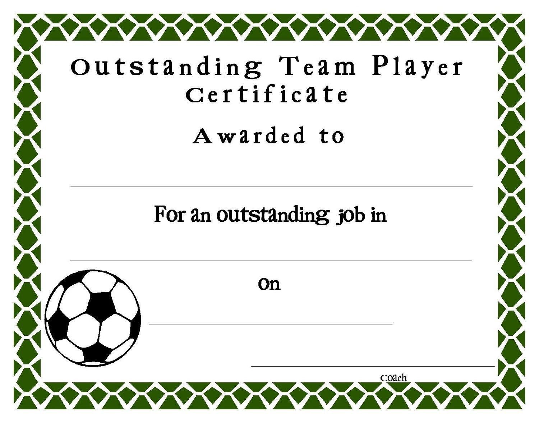 Soccer Certificate Templates  Sansurabionetassociats Regarding Soccer Certificate Template Free