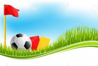 Soccer Or Football Game Background Design Template For Fan Club in Football Referee Game Card Template