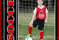 Soccer Sports Trader Card Template For Photoshop Balls And  Etsy pertaining to Soccer Trading Card Template