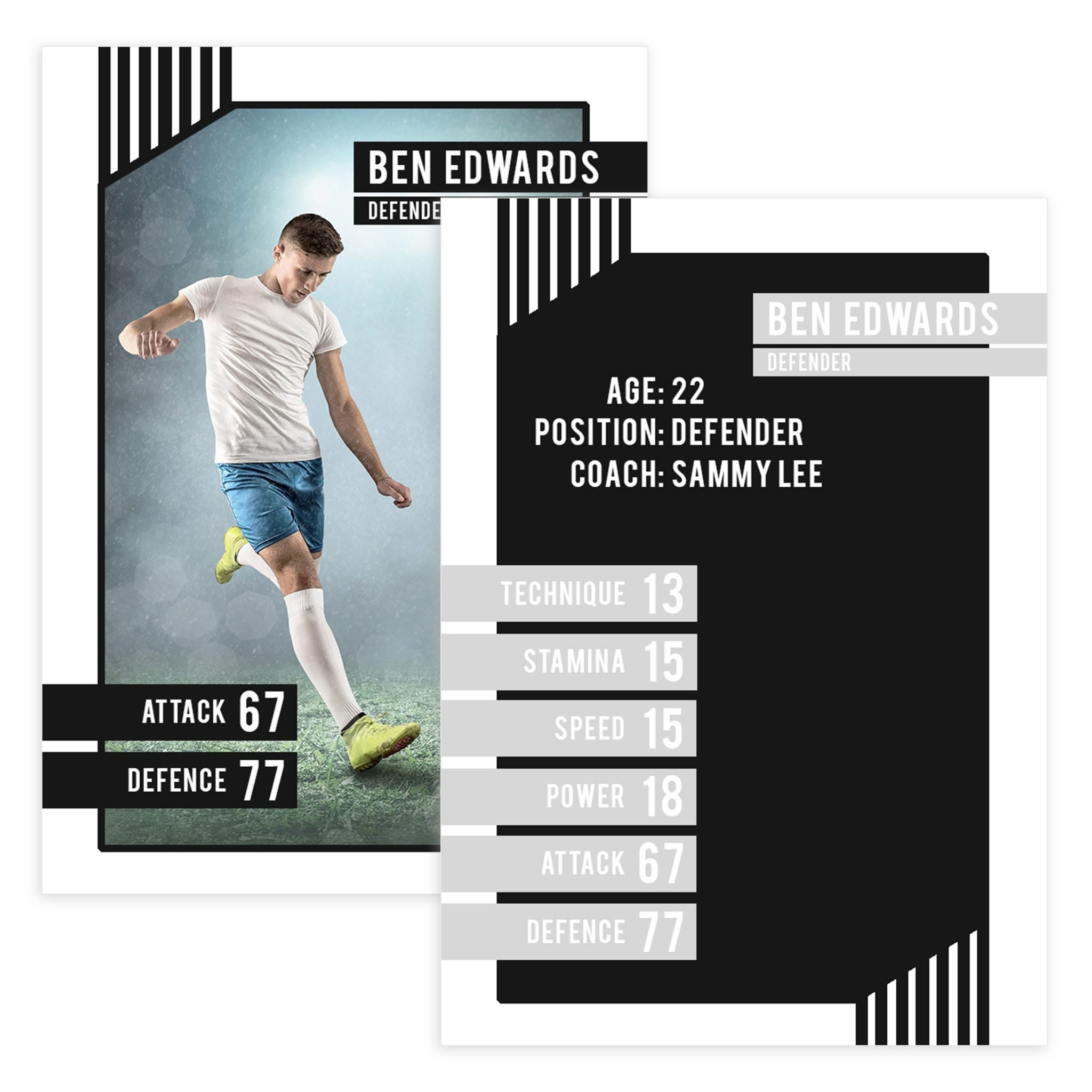 Soccer Trader Card Template For Photoshop  Mockaroon With Soccer Trading Card Template