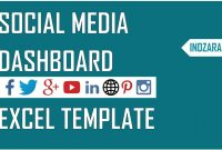 Social Media Dashboard  Free Excel Template To Report Social Media within Free Social Media Report Template