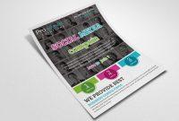 Social Media Flyer Templatedesignhub  Thehungryjpeg regarding Social Media Brochure Template