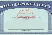 Social Security Card  Tax Refund Service  Estimate Tax Refund Usa inside Ss Card Template