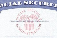 Social Security Card Template  Cyberuse in Social Security Card Template Pdf
