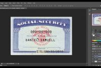 Social Security Card Template Download  Nurul Amal intended for Ssn Card Template