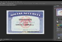 Social Security Card Template Download  Nurul Amal pertaining to Blank Social Security Card Template Download