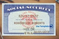 Social Security Card Template Download  Nurul Amal pertaining to Social Security Card Template Psd
