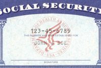 Social Security Card Template Pdf  Quick Tips Regarding intended for Editable Social Security Card Template
