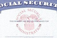 Social Security Card Template Psd Images  Social Security Card in Blank Social Security Card Template
