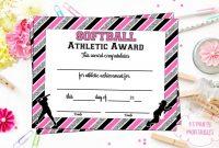 Softball Award Categories – Yasminroohi with Softball Award Certificate Template