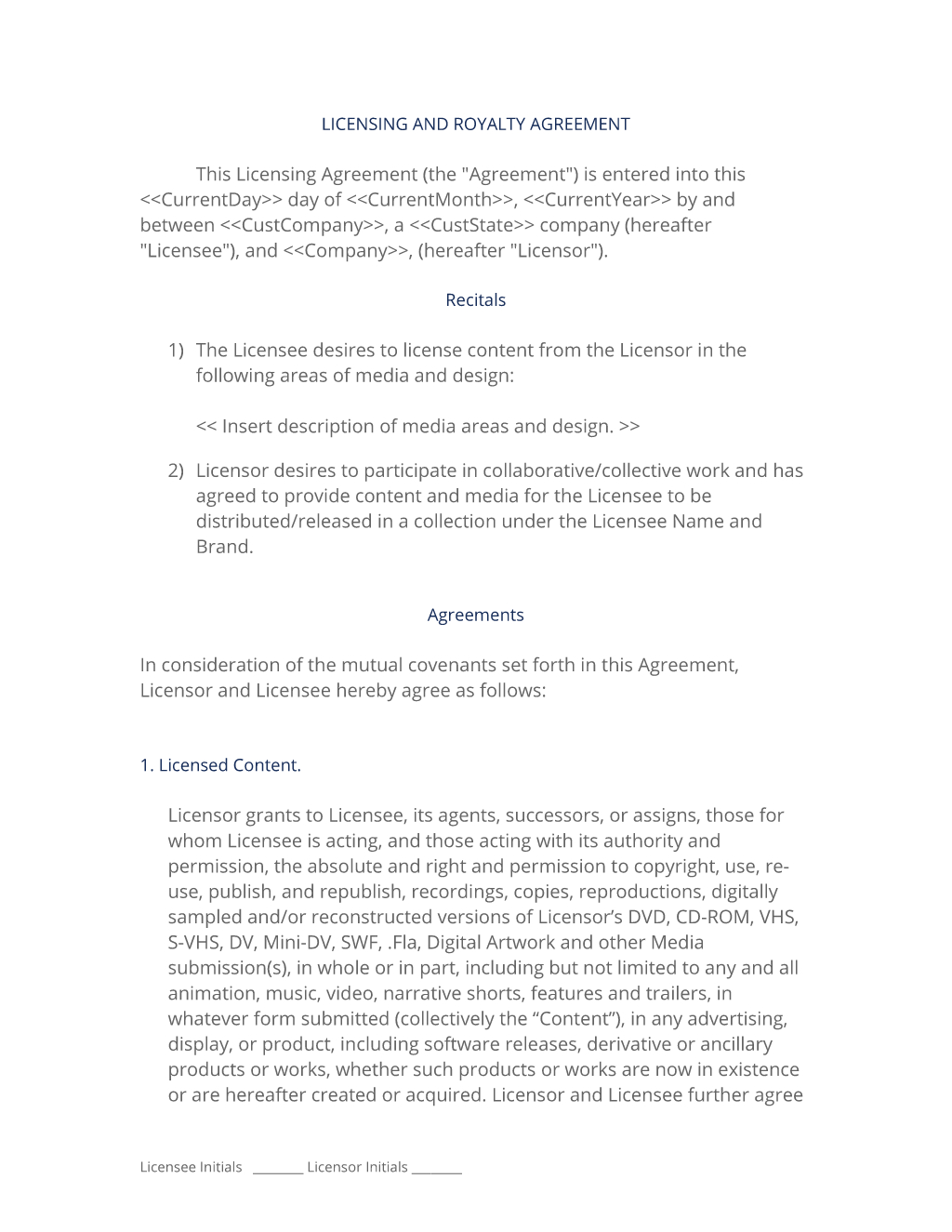 Software License And Royalty Agreement   Easy Steps Inside Brand Licensing Agreement Template