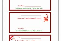 Spa Giftmplates Free Printable For Kids Template Ideas Singular throughout Christmas Gift Certificate Template Free Download