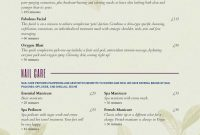 Spa Menu Templates And Designs From Imenupro regarding Spa Menu Template