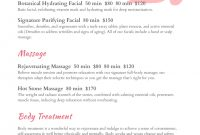 Spa Menu Templates And Designs From Imenupro with Spa Menu Template