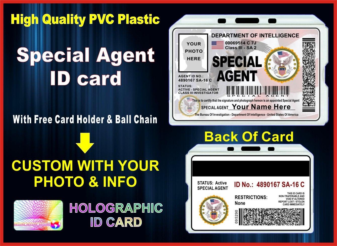 Special Agent Id Card  The Id Guru Pertaining To Mi6 Id Card Template