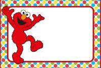 Special Elmo Birthday Invitation Template Examples With Elmo for Elmo Birthday Card Template