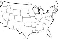 Specific United States Map  Blank throughout United States Map Template Blank
