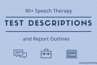 Speech Therapy Test Descriptions At Your Fingertips throughout Speech And Language Report Template