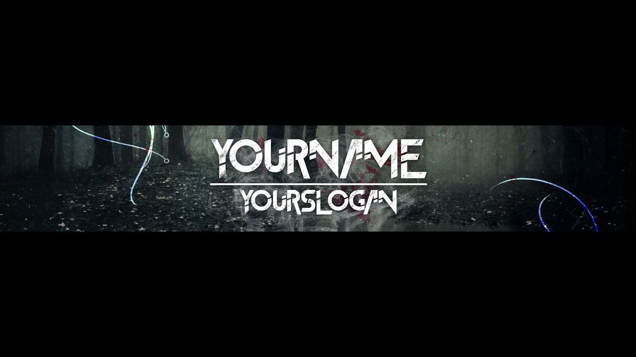 Speedart Youtube Banner  Channel Art Template  Gimp And Photoshop   Download Horror Style With Regard To Gimp Youtube Banner Template