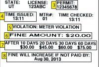 Speeding Ticket Template Nyc Parking Violation Blank Blank I Club inside Blank Parking Ticket Template