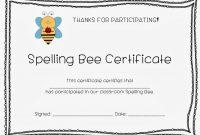 Spelling Bee Certificates  Teaching Resources  Ks  Bee with Spelling Bee Award Certificate Template