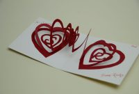 Spiral Heart Pop Up Card Template for Heart Pop Up Card Template Free