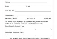 Sponsorship Agreement Example   Best Of Sponsorship Agreement inside Athlete Sponsorship Agreement Template