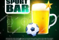 Sport Football Bar Menu Design Template Stock Vector Royalty Free pertaining to Football Menu Templates
