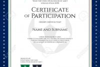 Sport Theme Certificate Of Participation Template For Football throughout Star Naming Certificate Template