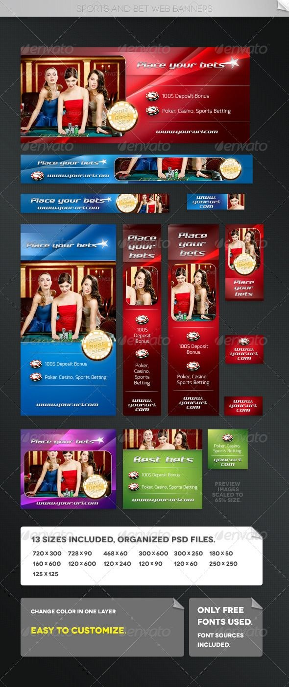 Sports And Bet Web Banners Graphicriver Packet Contains  High With Sports Banner Templates