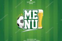Sports Bar Menu Card Template — Stock Vector © Slena intended for Football Menu Templates