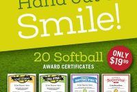 Sports Certificates Templates To Create Awards  Sports Feel Good for Softball Award Certificate Template