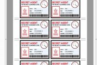 Spy Birthday Party Badge Secret Agent Badge Printable Id  Etsy for Spy Id Card Template