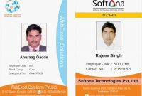 Sricorporate Staff Id Card  Innomations intended for Pvc Id Card Template