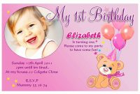 St Year Birthday Invitation Cards Sample — Birthday Invitation Examples with First Birthday Invitation Card Template