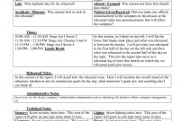 Stage Manager Rehearsal Report  Google Search  Stage Management In for Rehearsal Report Template
