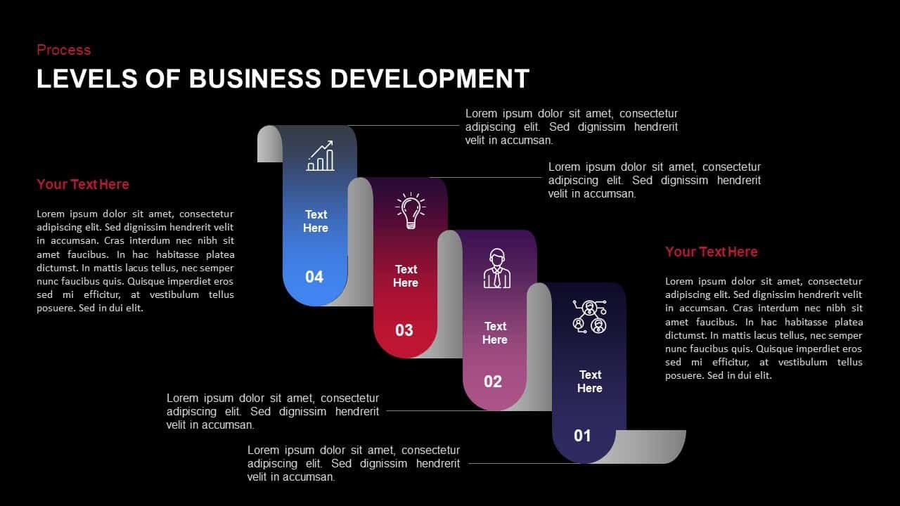 Stages Of Business Development Template For Powerpoint And Keynote With Business Development Presentation Template