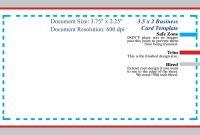 Standard Business Card Blank Template Photoshop Template Design with Name Card Photoshop Template