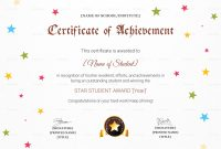 Star Achievement Certificate Design Template In Psd Word inside Star Award Certificate Template