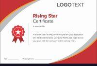 Star Performer Certificate Templates  Mandegar for Star Performer Certificate Templates