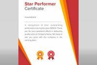 Star Performer Certificate Templates  Mandegar inside Star Performer Certificate Templates