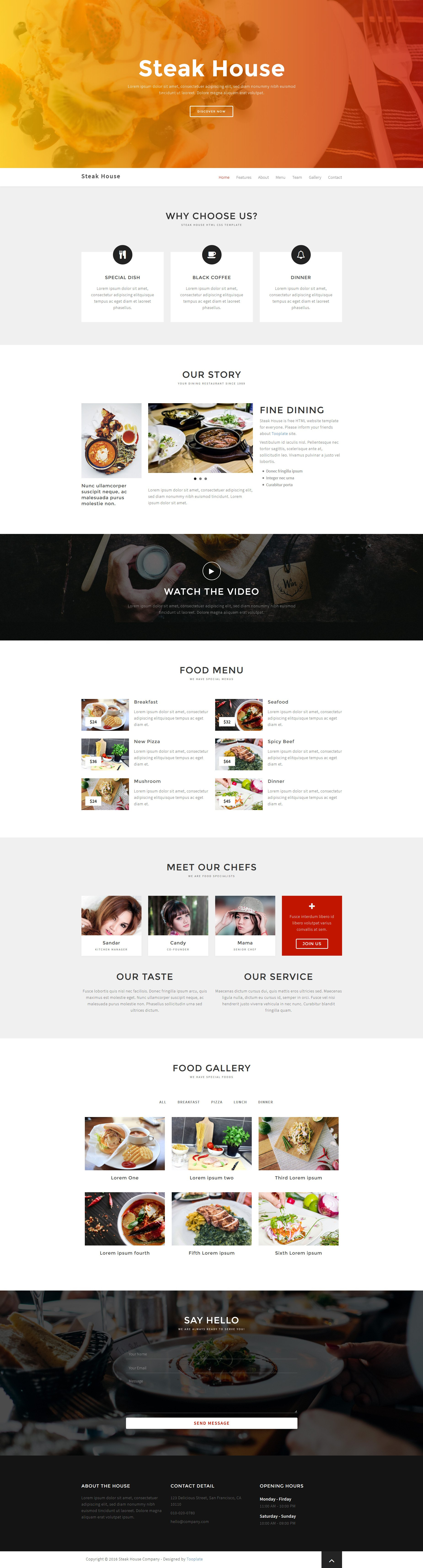Steak House Html Template  Free Bootstrap Templates  Free Html For Free Html Menu Templates