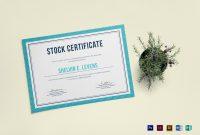 Stock Certificate Design Template In Psd Word Publisher with Indesign Certificate Template