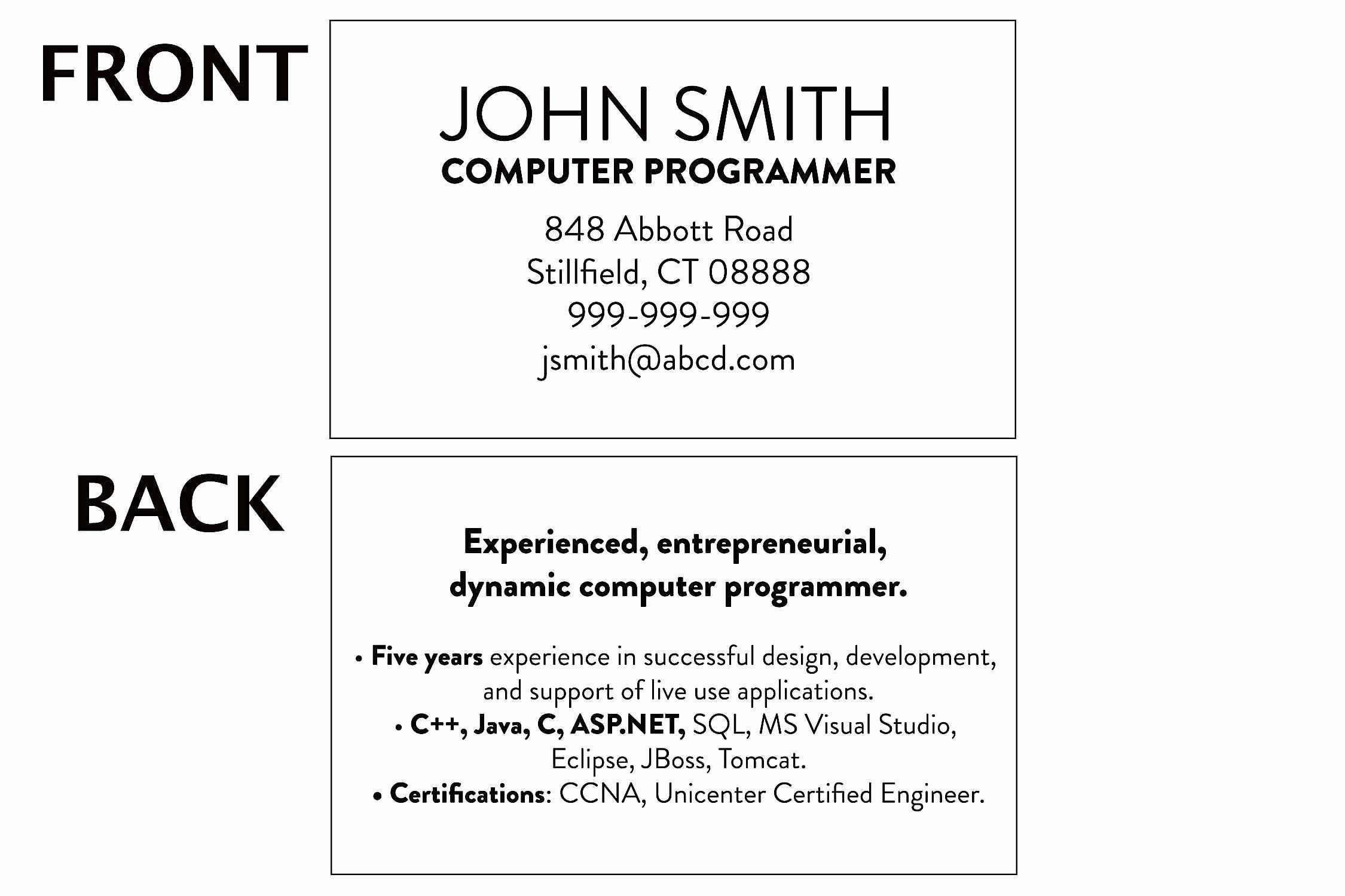 Student Business Card Template College Unique Cards Within Intended For Student Business Card Template