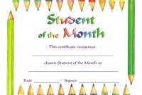 Student Of The Month regarding Free Printable Student Of The Month Certificate Templates