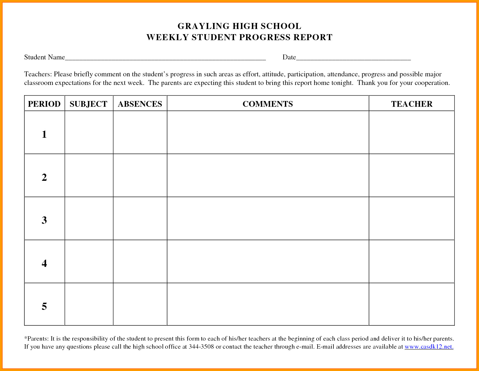 Student Progress Report Template Ideas Students Beautiful Weekly Intended For Student Progress Report Template