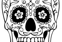 Sugar Skull Drawing Template At Paintingvalley  Explore with regard to Blank Sugar Skull Template