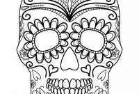 Sugar Skull Template Printable  Images In Collection Page throughout Blank Sugar Skull Template