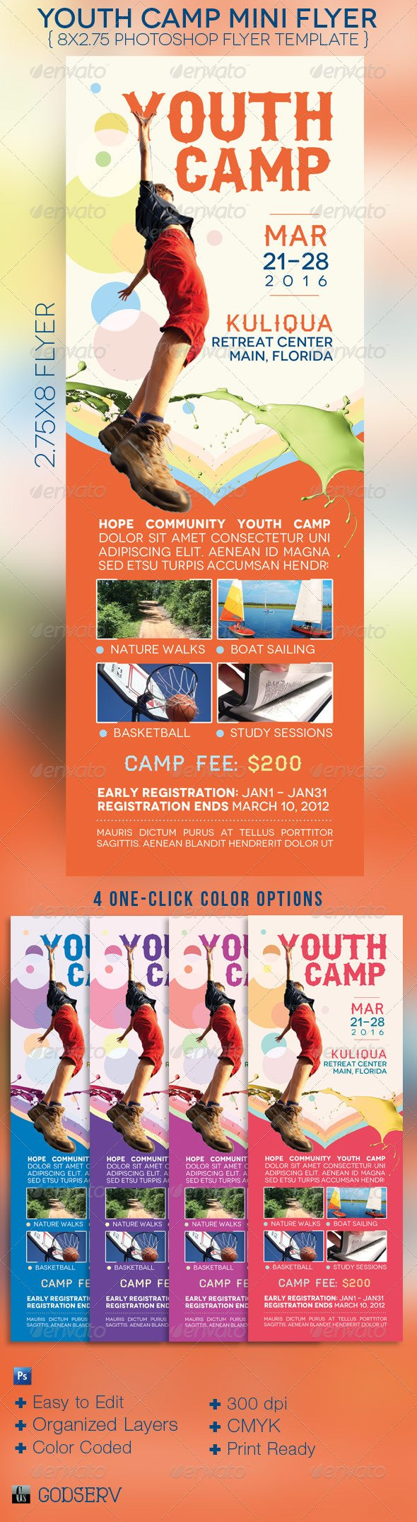 Summer Church Flyer Templates From Graphicriver With Ngo Brochure Templates
